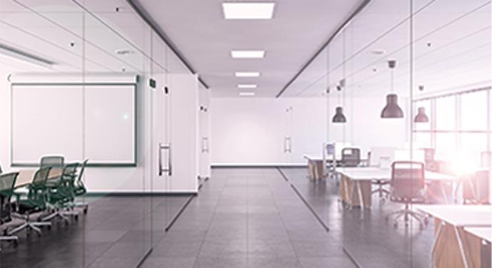 modern office building interior